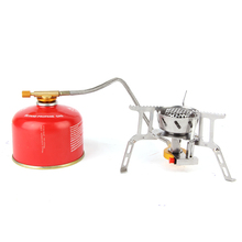 Электронный зажигание на открытом воздухе горелка ветролом портативный сложить очень дикий кок кухня инструмент кемпинг посуда звон алкил газ печь