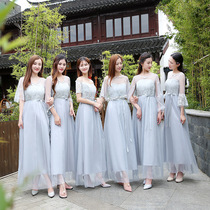 2017 new style Bridesmaid clothing long paragraph Korean version of the sister group dress Maxi dress slim Banquet clothing autumn winter annual meeting Evening Dress