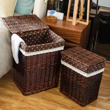 Ротанг хранение корзина коробка для хранения ikea грязный одежда корзина ива компилировать разбираться коробка xl грязный одежда корзины сельская местность ткань крышка