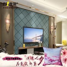 Гордый суд спальня прикроватный мягкий чехол кожа современный диван гостиная телевидение стена сделанный на заказ алмаз обновлённая фон стена