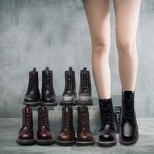 Любители плюс бархат мартин сапоги мужской и женщины 8 отверстие британская мода ретро ботинки студент корейский дикий 2017 новый толстая