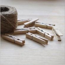 100 медаль / мешок деревянный небольшой клип сын diy творческий пеньковая веревка фото клип мини дерево клип ретро войти клип