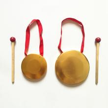 Бесплатная доставка игрушка медь гонг небольшой гонг три предложение половина реквизит ( воловья кожа барабан зал барабан ) заумный твой муж удар музыкальные инструменты реквизит гонг