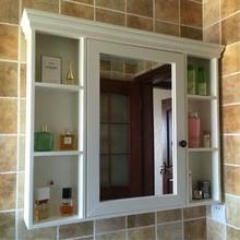 Дуб американский ванная комната зеркальный шкаф дерево ванная комната мыть между хранение вешать стена зеркальный шкаф стеллажи большое зеркало сын зеркало коробка