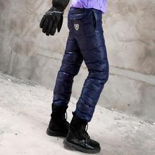 Пекин лес на открытом воздухе зимний сохраняющий тепло воздухопроницаемый вкладыш верхняя одежда ноги брюки вниз толще и больше размер брюки мужской и женщины