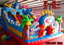 Ребенок газированный замок на открытом воздухе крупномасштабный перейти батут новый газированный слайды игрушка дом непослушный форт удовольствие поле оборудование