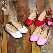 Девочки принцесса обувной осень ребенок горох туфли новый случайный мягкое дно обувь ребенок сын обувь белое сокровище сокровище кожаная обувь