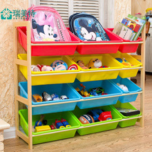 Ребенок игрушка хранение полка разбираться полка многослойный стеллажи ящик дерево ребенок игрушка игрушка хранение кабинет