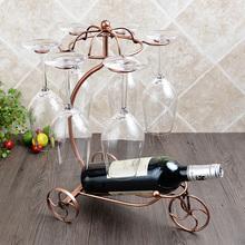Повышение плюс грубый творческий континентальный ретро двойной вино полка вино полка вешать бокал ходули держатели стаканов вино украшение