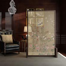 Тихий часы таинственный вид завод дерево экран охрана окружающей среды китайский стиль пряжа качество полупрозрачная гостиная фэн-шуй отрезать вставить экран сидеть экран