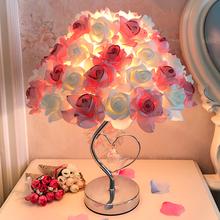Роз кристалл настольные лампы выйти замуж подарок творческий свадьба принцесса брак дом долго поверхностный монтаж украшения теплый спальня прикроватный свет