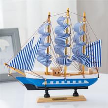 Дерево парусное судно модель украшение континентальный средиземноморье стиль декоративный творческий телевизионный шкаф ремесла статья судно качели установить подарок