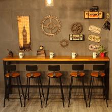 Американский железо опираться на стена бар длинные столы стол бар столы и стулья ходули стол простой ретро домой бар нордический небольшой бар