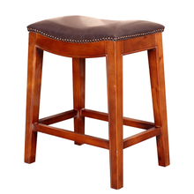 Американский страна дерево ходули табуретка ретро седло стул назад тайвань стул офис стул бар табуретка сделать старый стул бар стул