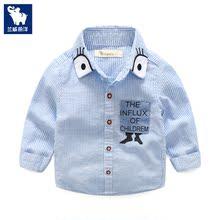 Мальчиков рубашка с длинными рукавами весна 2017 новый одежда небольшой ребенок ребенок белая рубашка корейский ребенок весна поддержка