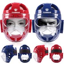 День качественный товар для взрослых ребенок тхэквондо средства защиты головы близко маска для лица пустой рука дорога средства защиты головы бокс саньшоу (свободный спарринг) маска для лица шлем