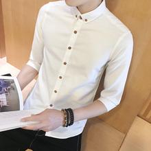 2 модель 69】 лето белый мужчина ученый рубашка короткий рукав тонкий корейский студент 7 семь штук рубашка рукав тенденция дюймовый рубашка
