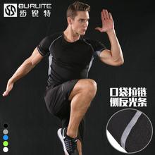 Спортивный набор мужчина лето бег фитнес одежда короткий рукав пятый шорты быстросохнущие t футболки движение одежда случайный установите