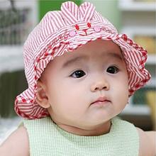 Ребенок шляпа 0-3-6 месяцы лето затенение крышка мальчиков и девочек, корейский солнце крышка хлопок ребенок ведро весна