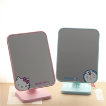 Мультики hellokitty кошка hd зеркало зеркало один съемный портативный косметическое зеркало квадрат косметология зеркало