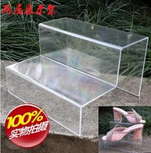 Органическое стекло подбородок пластик обувной кронштейн дисплей прозрачный два обувной уход обувная полка обувной магазин обувь чэн строка полка