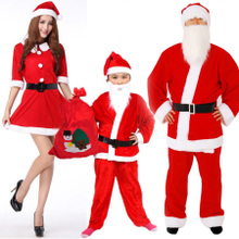 Порт постоянный рождество одежда для взрослых женский детей мужчина наряд рождество одежда размер санта-клаус одежда