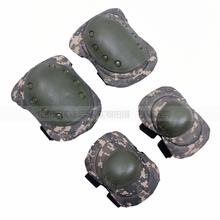 ACU камуфляж защитное снаряжение тактический защитное снаряжение kneepad локоть четыре части CS операция защитное снаряжение