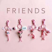 Корея милый мягкий сестра розовая пантера непослушный леопард брелок портфель сумка модель ключи от машины брелок женщина творческий кукла
