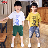 Meters West fruit children's Spring Summer dress 2018 new boys t-Shirt Short Sleeve bottoming shirt pure cotton T-Shirt tops tide kids