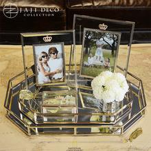 Домой декоративный товары теперь от имени джейн примерно гостиная спальня украшение творческий высокопробного золота принадлежать стекло хранение ювелирные изделия лоток