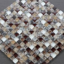 Кристалл стекло мозаика электрический позолоченные серебро зеркало поверхность керамическая плитка наклейки для стен головоломки фон стена ванная комната украшение