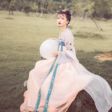 Девять ночь китайский элемент китайский одежда вышитый улучшение двубортный вместе грудь куртка юбка костюм древний наряд бюстгальтер вместе грудь куртка юбка отдел южная павильон