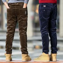 В больших детей мальчиков вельвет брюки зимний осенний с дополнительным слоем пуха сгущаться брюки ребенок брюки вельвет брюки 12 лет 15