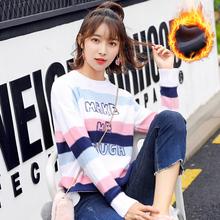 Осенью и зимой шея плюс утолщённый свитер женщина свободный милый хеджирование корейский студент свитер мода шерстяной одежда
