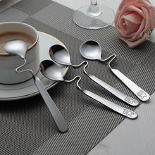 Континентальный кофе ложка сковорода нержавеющей стали творческий мед ложка размешивать палка мультики утолщённый может любовь вешать чашка ложка