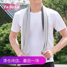 Япония FaSoLa супер пот холодный смысл движение полотенце мужской и женщины ледяной падения температура бег фитнес быстросохнущие вытирать пот полотенце