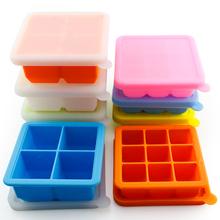 Пищевого силиконовый формочка для льда большой лед блок система лед картридж крышка лед торт плесень холодный замораживать сохранение ребенок вспомогательный еда коробка домой