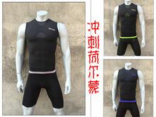 Новый многоцветный жилет шорты эластичность быстросохнущие одежда фитнес пот круглый вырез безрукавный лето мужчина поле путь обучение BOD