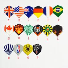 Английский прекрасный флаг дартс спойлер острие меча лист универсальный острие меча крыло / спойлер дартс монтаж дартс лезвие