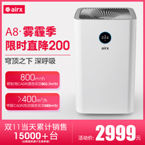 airx A8 air purifier A7F upgraded home in addition to formaldehyde haze odor PM2 5 indoor Purifier