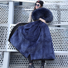 Щука женская одежда шуба вкладыш звезды шуба пальто девочки длинная модель щука пальто женщина лиса волосы воротник