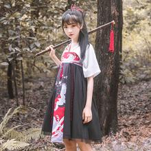 Олень юньдаа запомнить оригинальный дизайн улучшение китайский женская одежда лето кран печать вместе грудь куртка юбка ретро китайский элемент ежедневно