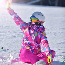 Искренний снег на открытом воздухе женщина катание на лыжах одежда катание на лыжах одежда зима для предотвращения ветровой вода с толстые тепло двойная плита катание на лыжах пиджак пальто