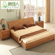 Отели квартира двуспальная кровать индонезия виноградная лоза кровать ротанг кровать виноградная лоза искусство кровать ретро люди ночь виноградная лоза мебель ротанг виноградная лоза система кровать TD