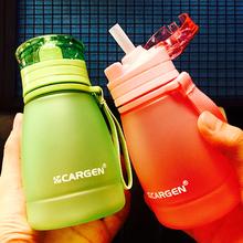 Лето ребенок детские чашки женщины могут любовь ребенок пластик для взрослых бутылка ребенок студент следовать рука чайник лимонад сын