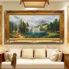 Ручной работы континентальный пейзаж гостиная живопись диван фон стена декоративный живопись рог изобилия счастливый фэн-шуй родник картины