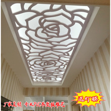 PVC древесно - полимерных плита пирсинг резьба доска европейский цветы сетка потолок отрезать вход фон стена экран через доска свет мембрана