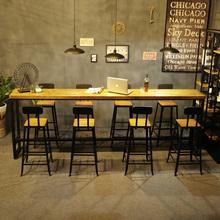 Американский дерево домой бар стол кофе зал молочный чай магазин столы и стулья сочетание полоса стол бар тайвань ходули стол опираться на стена