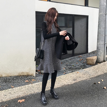 A7seven темперамент тонкий длина сетка жилет платье женщина 2017 осень и зима корейский поддержка рыбий хвост юбка