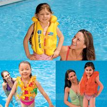 Доставка включена + подарок качественная оригинальная продукция INTEX ребенок газированный плавать жилет плавать одежда спасательные жилеты три газ комната